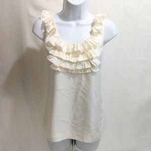 Banana republic silk ruffle blouse s sleeveless be